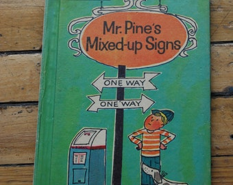 Vintage Children's Book, Mr. Pine's Mixed-Up Sings.