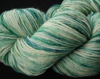 Hand dyed Sock Type BFL Superwash Yarn