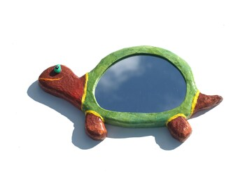 Decorative wall mirror smiling turtle,wall hanging turtle,home decor,funny animal