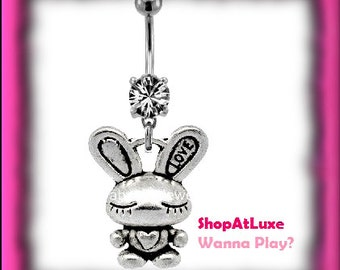 ANIME Bunny Navel Belly Ring - Hand Crafted