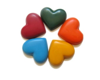 Heart Crayons set of 20 - Valentines Day Crayons - Valentines day favors - Party favors