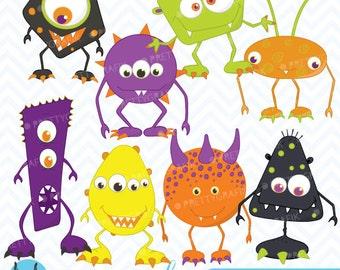 Monster clipart commercial use, vector graphics, digital clip art, digital images - CL392