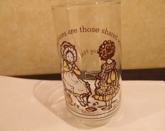 Holly Hobbie Happy Talk Glass  LImited Edition Coca Cola