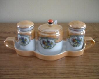 Noritake Luster Condiment Set