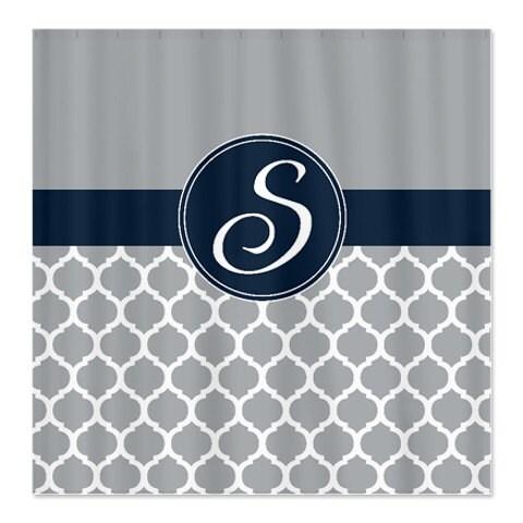 custom quatrefoil shower curtain personalized with monogram