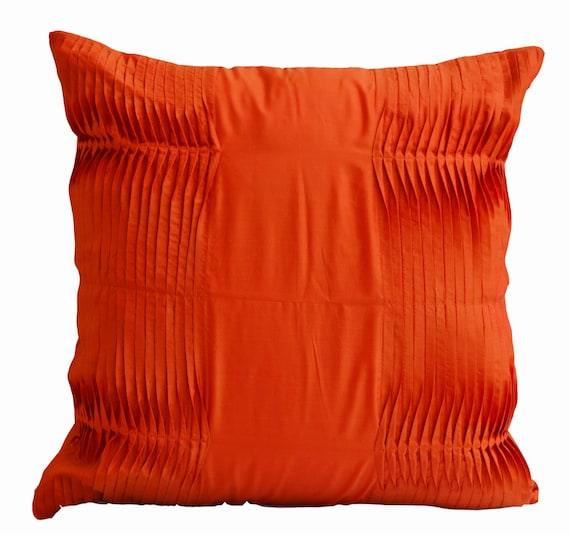 Items similar to Decorative cushion, Orange pillow, Cotton pillow , Accent pillows 16X16 Gift ...