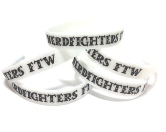 Nerdfighters FTW Glow-in-the-dark Silicone Bracelet