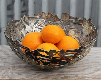 Large key bowl 28 cm, Key bowl, Metal bowl, Metal sculpture ornament, Made to order
