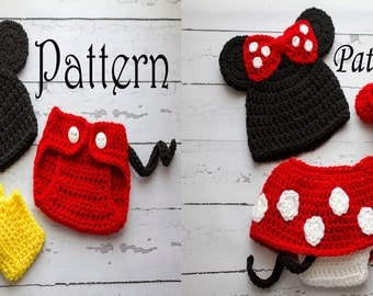 Free Crochet Pattern For Baby Minnie Mouse Outfit : Free Crochet Pattern For Newborn Mickey Mouse Outfit Joy ...
