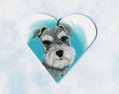 Schnauzer - Schnauzer Ornament - Schnauzer Magnet - Miniature Schnauzers - Christmas Ornament - Tree Ornament - Heart - Weeze Mace