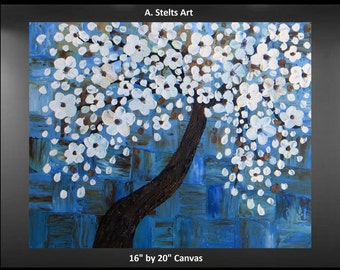 Dancing Blossom Tree Canvas Painting