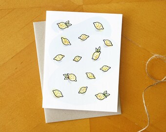 Lemons For Lemonade: Hand Drawn Greeting Card