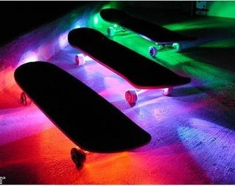 Skateboard Battery Powered LED Waterproof Light Strip Kit w/ Remote Control - Longboard
