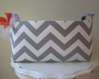 Large Fabric Bin/Diaper Caddy in your choice of fabric