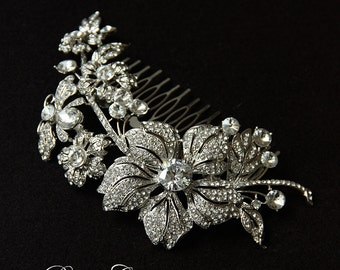 Bridal Comb, Large Rhinestone Comb, Crystal Bridal Comb, Wedding Crystal Hair Comb, Hair Comb, Wedding Comb, Bridal Headpiece, Bridal Comb