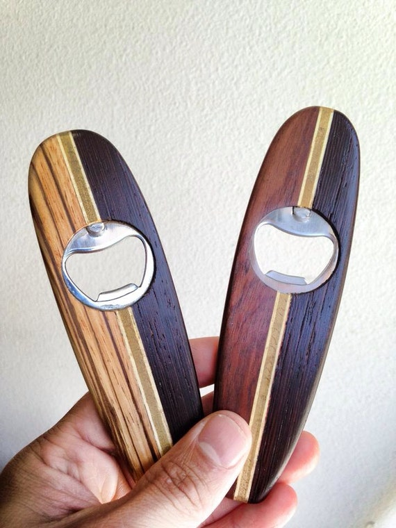 custom wooden surfboard bottle opener or wine by jermcreationz. Black Bedroom Furniture Sets. Home Design Ideas