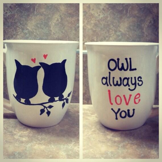 Owl coffee mug by sarahmarie28 on Etsy
