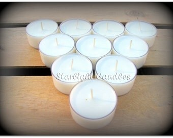 6 Teakwood Scented Soy Tealight Candles