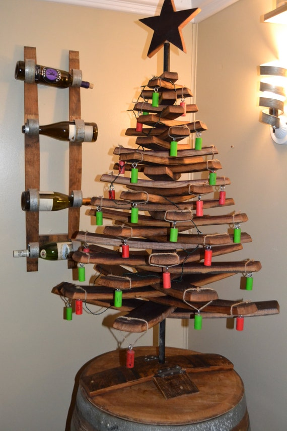 Items Similar To Wine Barrel Stave Christmas Tree On Etsy