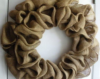 Custom Made to Order Burlap Wreath