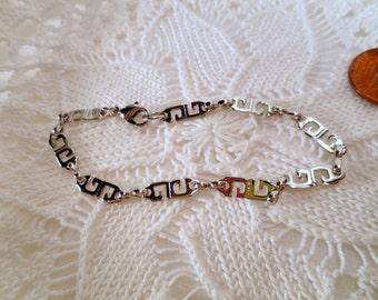 Vintage Givenchy Bracelet, Silver Tone Multiple Logos, Designer Bracelet, Vintage jewellery