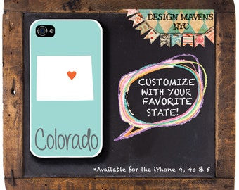 Colorado iPhone Case, Personalized iPhone Case, iPhone 4, iPhone 4s, iPhone 5, iPhone 5s, iPhone 5c, iPhone 6, Phone Cover, Phone Case