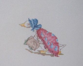 cross stitch beatrix potter jemima puddle duck CHART INSTRUCTIONS ONLY lakeland artist new
