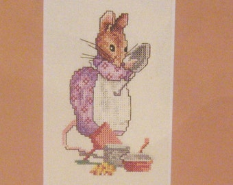 cross stitch beatrix potter hunca munca CHART INSTRUCTIONS ONLY lakeland artist new
