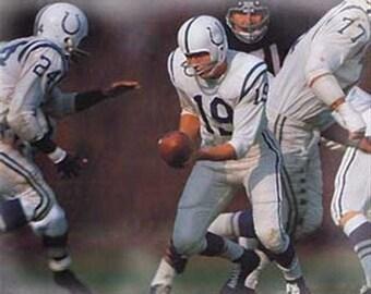 Johnny Unitas Rare Baltimore Colts Lithograph