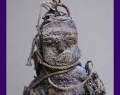 African Witch doctor voodoo ritually encrusted POWER FIGURE