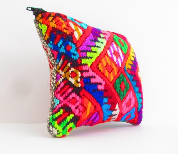 Items similar to mexican embroidered bag aztec fashion