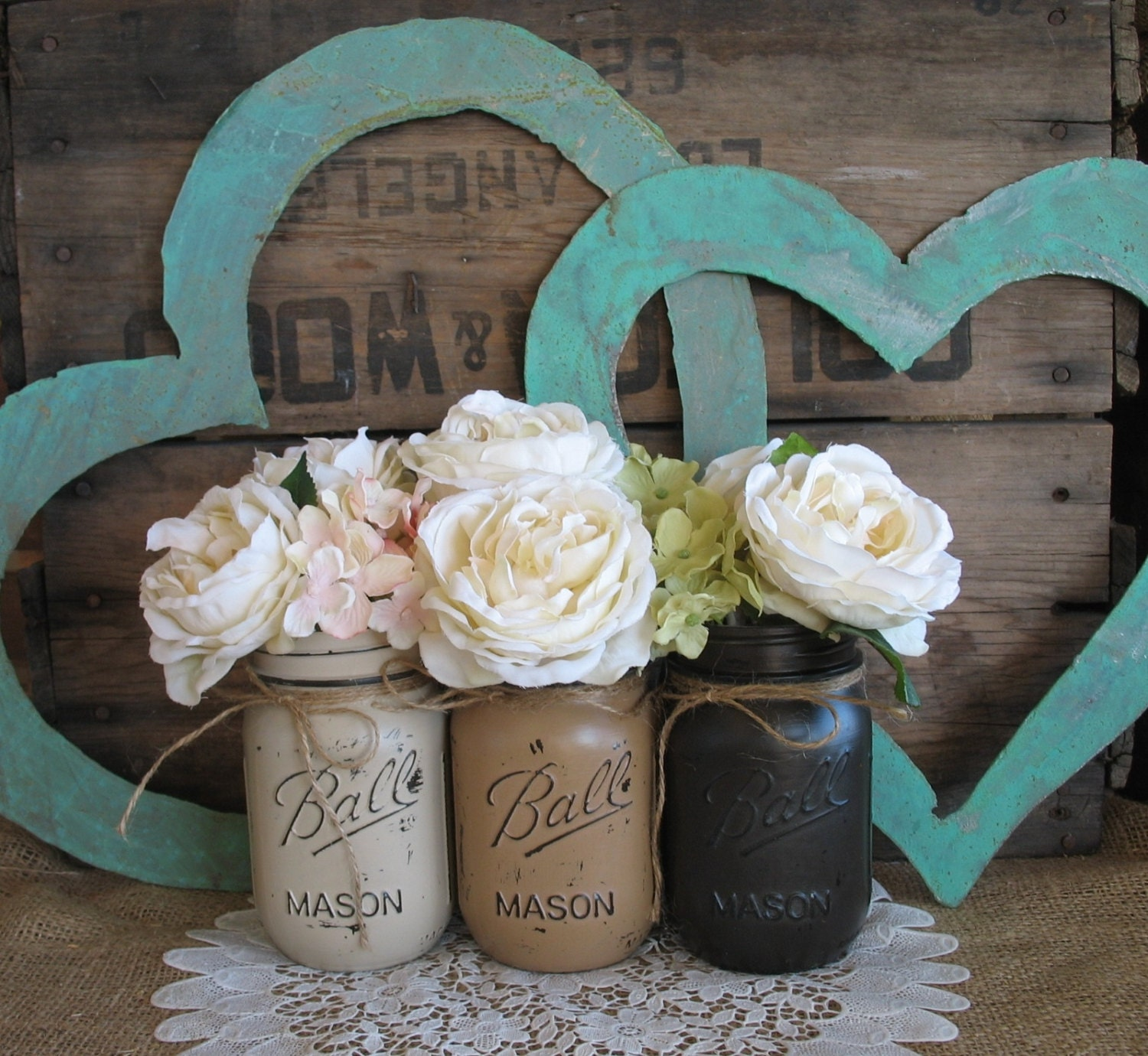 Items Similar To Mason Jars Ball Painted Jars