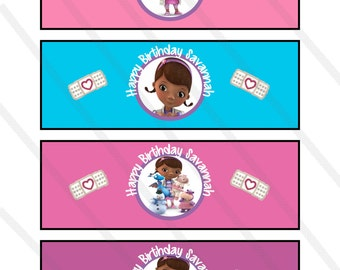 bubble bottle label template - mcstuffins stickers etsy