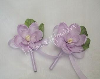Bridal flower buttonhole,paper flower,wedding flower paper,magnolias paper, paper flower buttonhole,bridal buttonhole,paper flower decor,