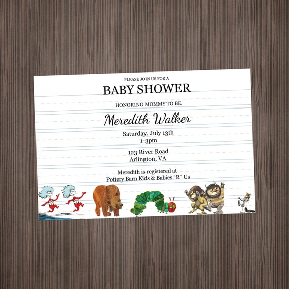 storybook invitation baby shower or birthday by lulupaperprints