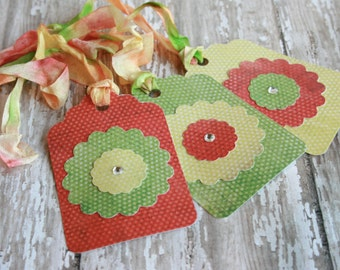 Spring Flower Tags // Flower Gift Tags // Shabby Chic Gift Tags