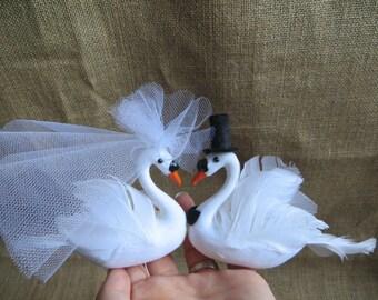 White Swan Love Bird Wedding Cake Topper, Elegant Wedding Cake Topper, Romantic Wedding Cake Topper, Lovebird cake topper, Love Bird topper