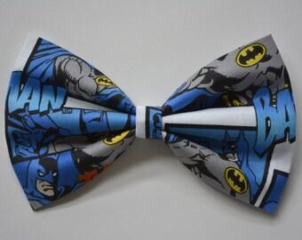 Batman-hair Bow, bows for hair, girls Hair bows, fabric bows,Batman bows