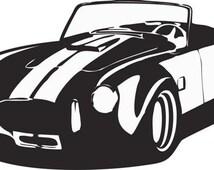 Wall Vinyl Sticker Decals Decor Art Bedroom Design Mural AC Cobra Car Cars