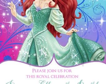 Princess Ariel Birthday Invitation