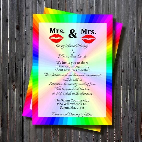 Printable same sex wedding bridal shower by for Gay wedding shower invitations