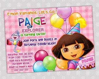 Dora the Explorer Invitation Birthday Party Invitation - Digital File