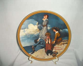 Norman Rockwell Waiting on the Shore Decorative Plate Knowles 1981