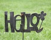 Hello - Garden Stake