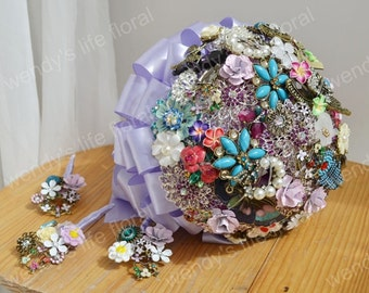 wedding brooch bouquet vintage style