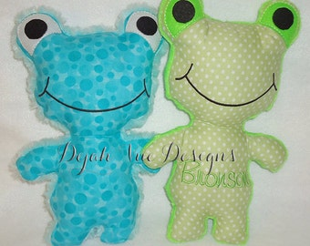 Fergie the Frog Stuffed Animal ITH Embroidery Design