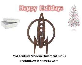 821-3 Mid Century Modern Christmas Ornament