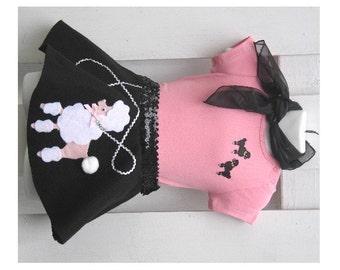 "4 Pc Baby/Toddler Girls OOAK Poodle Skirt Set Hand-Made Felt Skirt: 16-19""waist, 8"" L"