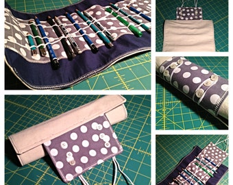 Canvas Pencil Roll - Holds 24 pencils