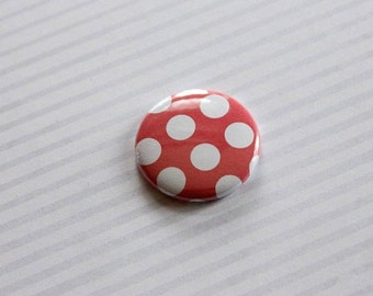 """Badge 1 """"red and white pea"""